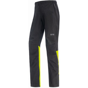 GORE WEAR Gore-Tex Paclite Broek Heren, black/neon yellow